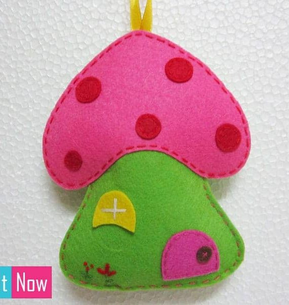 Small-Mushroom-House-Felt-Wall-Hanging