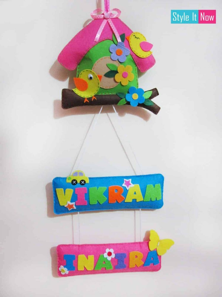 Two Tier Bird House Name Hanging